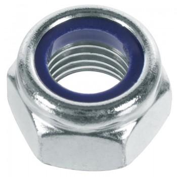 Гайки со стопорным кольцом DIN 985 оцинкованные - 24